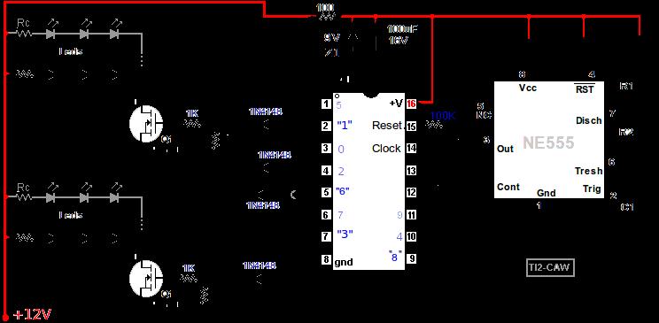 Circuito Luces Led Intermitentes : Proyecto luces estroboscopicas con leds