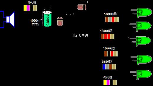 Circuito Luces Audioritmicas : Eletrônica campo elétrico leds rítmicos